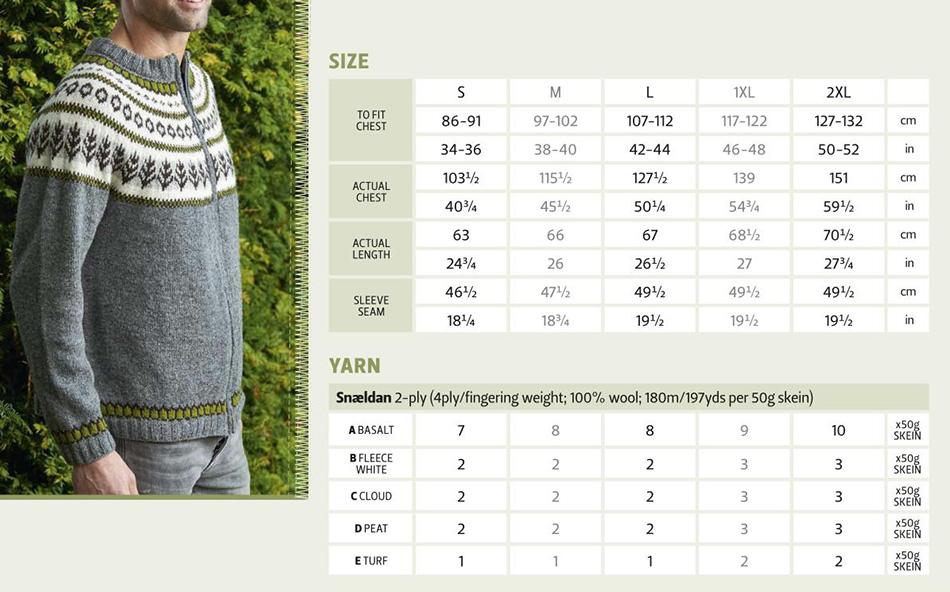 Zipped cardigan knitting pattern