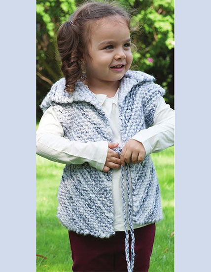 Knitted vest for girls