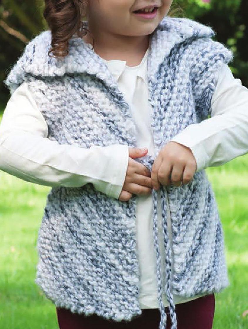Girls vest knitting pattern