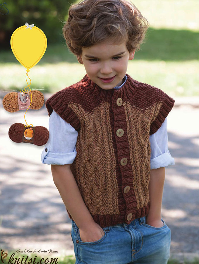 cbad1f328094 Boys vest knitting pattern