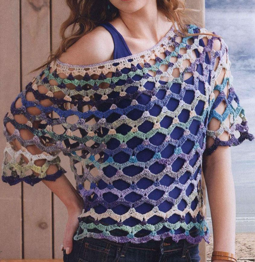 Openwork top crochet pattern