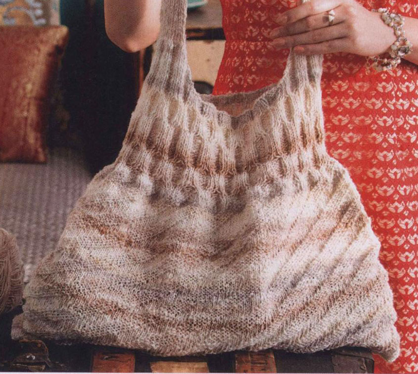 Cable tote knitting pattern