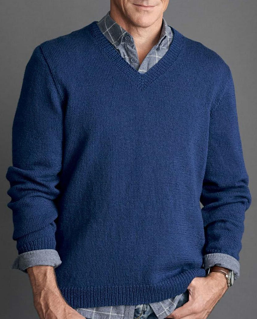 Knitted jumper for mens