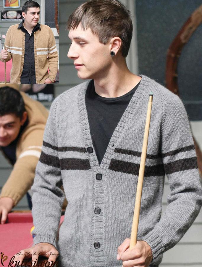 Mens Cardigans Knitting Patterns Free