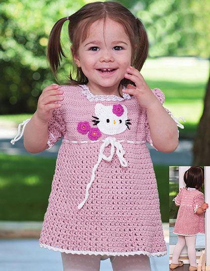 Little girl dress crochet pattern
