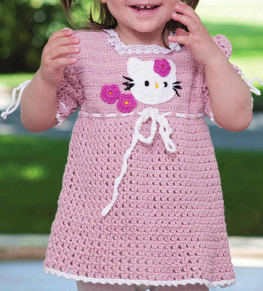 Little girl dress crochet pattern free