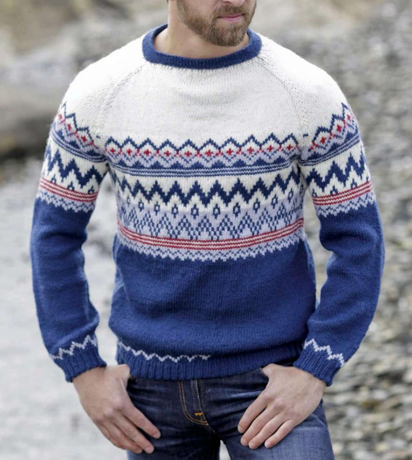 1592db2183bfdb Men s fair isle sweater knitting pattern