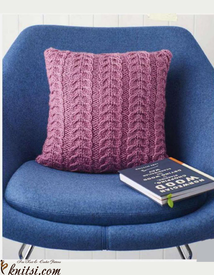 Cable cushion knitting pattern free