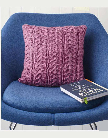 Cushion knitting pattern
