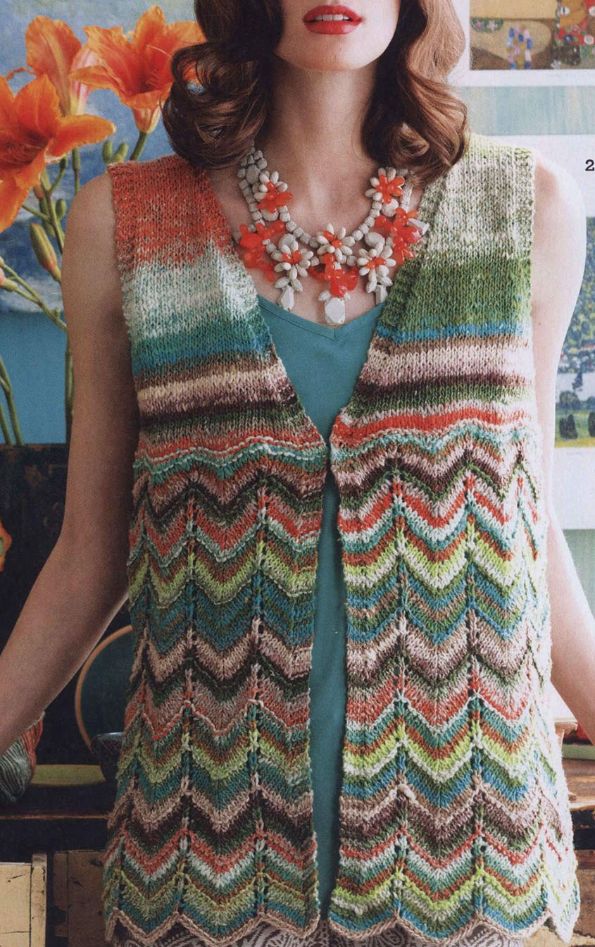 Women's vest knitting pattern