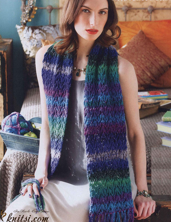 Lacy chevron scarf