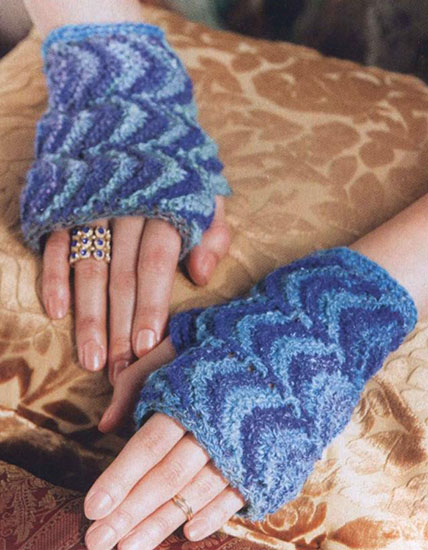 Women's mitts crochet pattern