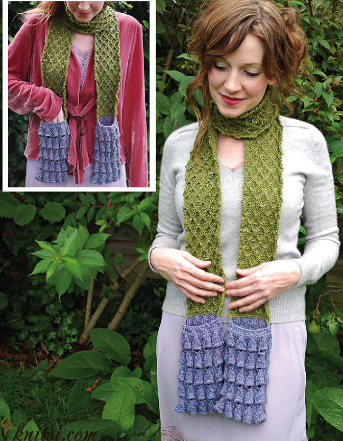 Pocket Scarf Knitting Pattern
