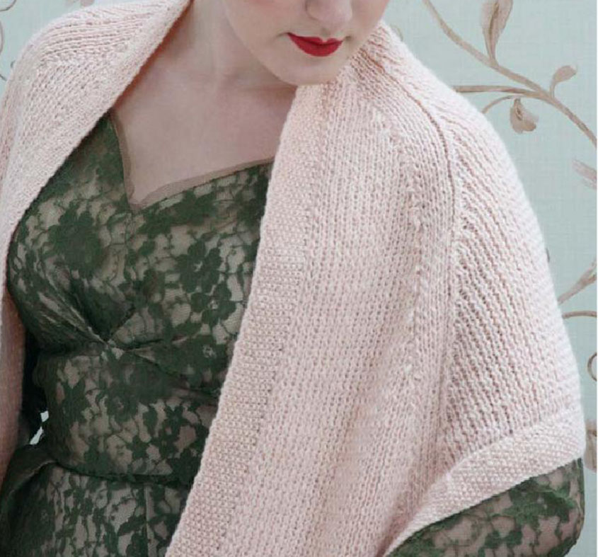 Knitted Cape Stole With Pockets