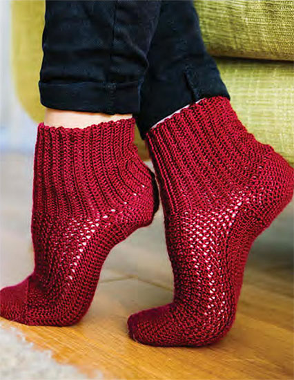 Women's socks crochet pattern