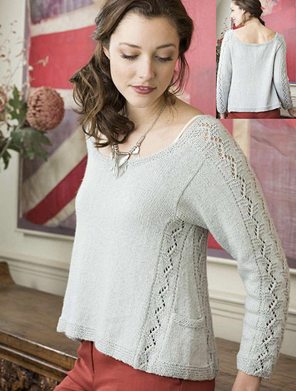 Women's pullover knitting pattern