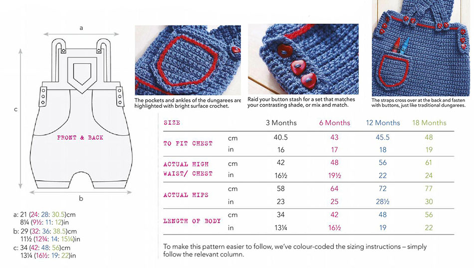Baby Dungarees Crochet Pattern