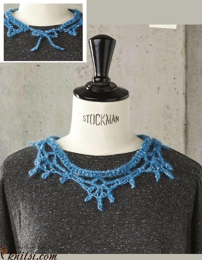 Crochet Lace Collar Pattern Free