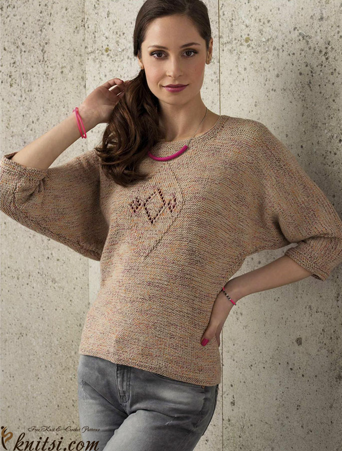 Dolman Sleeve Sweater Knitting Pattern