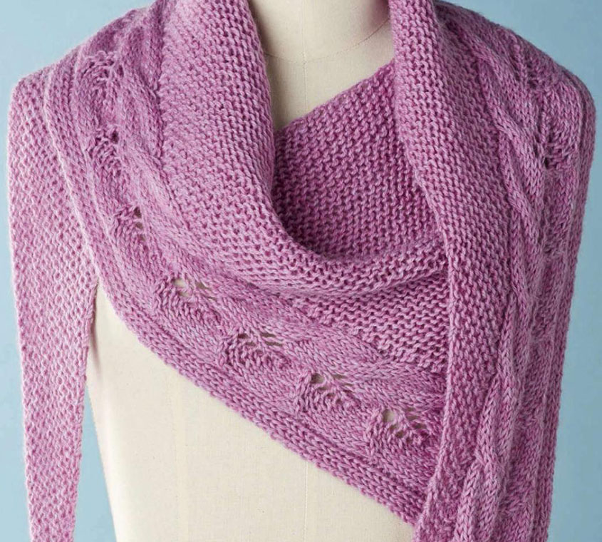 Asymmetric shawl knitting pattern