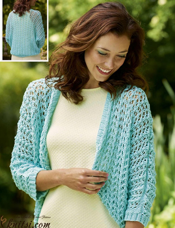 Lace shrug knitting pattern