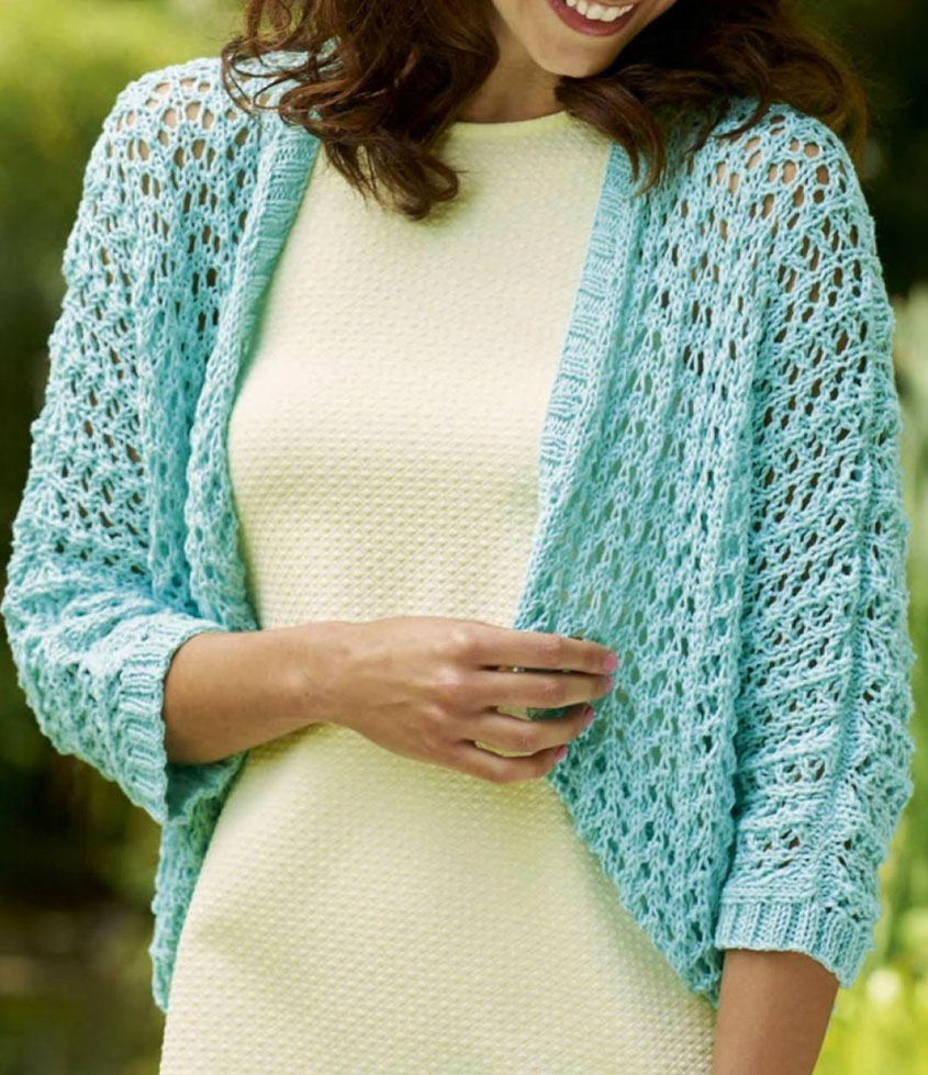 Women's shrug knitting pattern