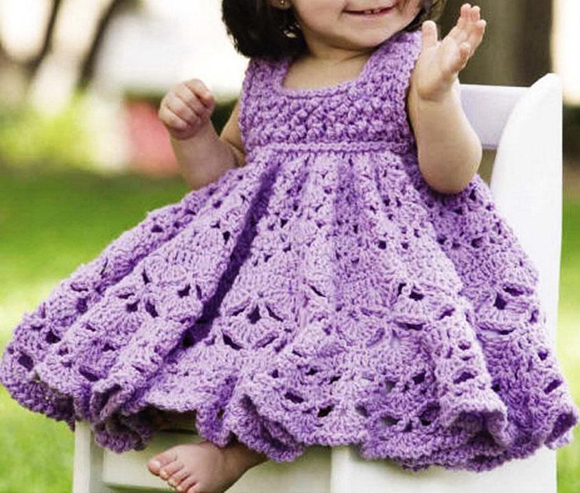 Frilly dress crochet pattern