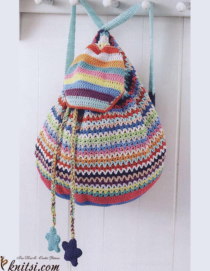 Backpack crochet pattern free
