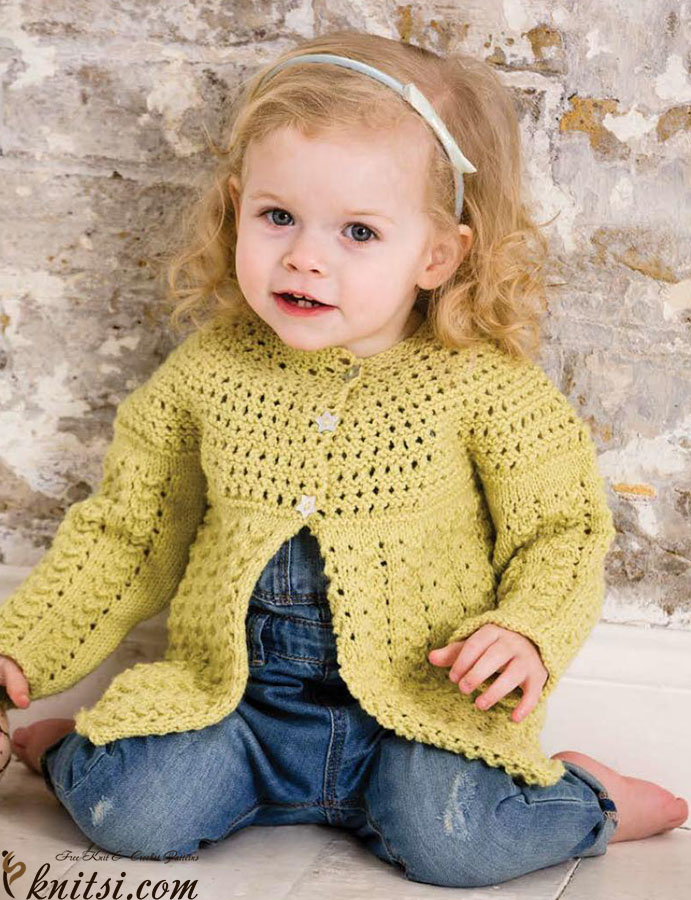 8d3ee7eb04af Little girls cardigan knitting pattern