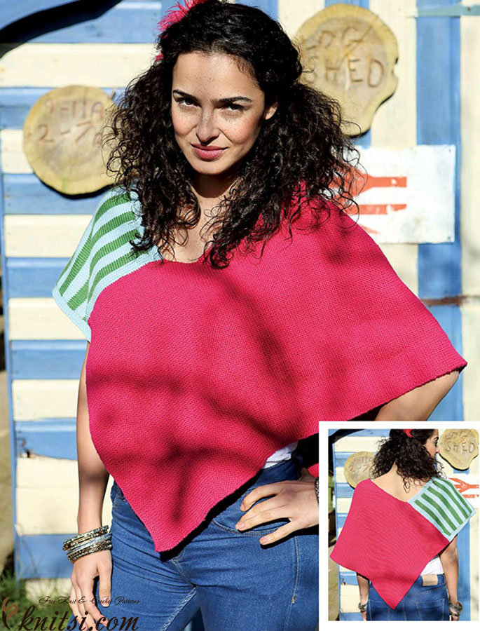 Knit Poncho Two Rectangles