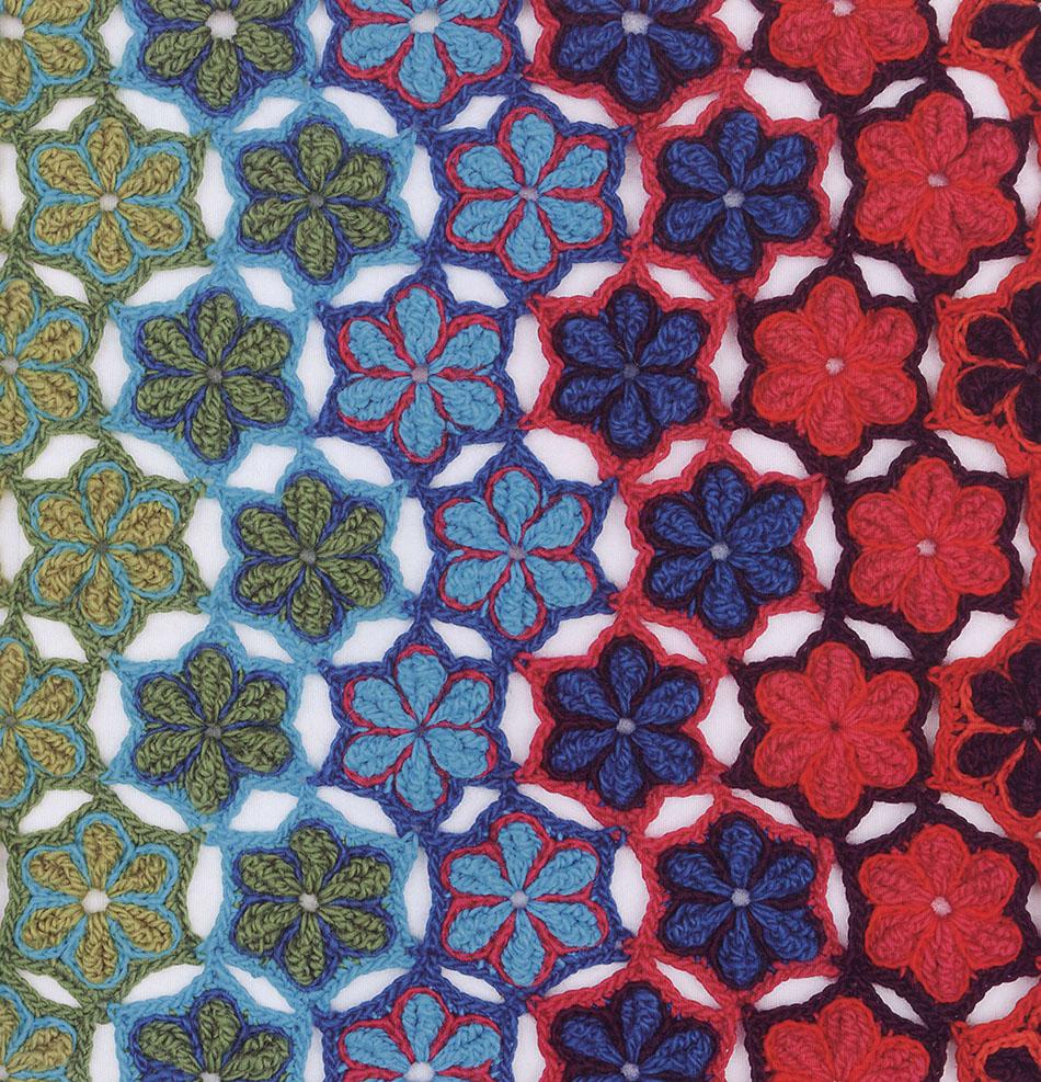 Rainbow rug crochet pattern