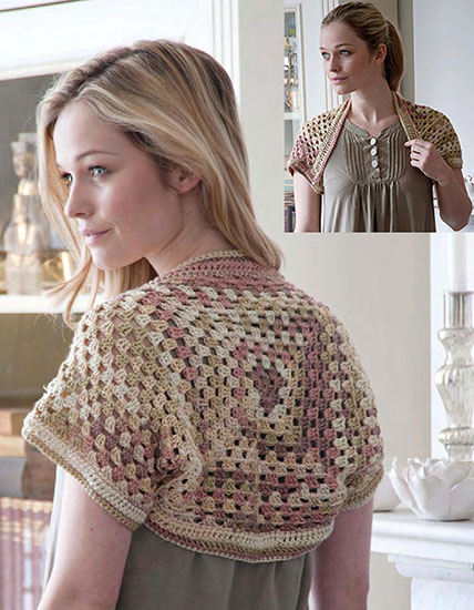 Women's bolero crochet pattern
