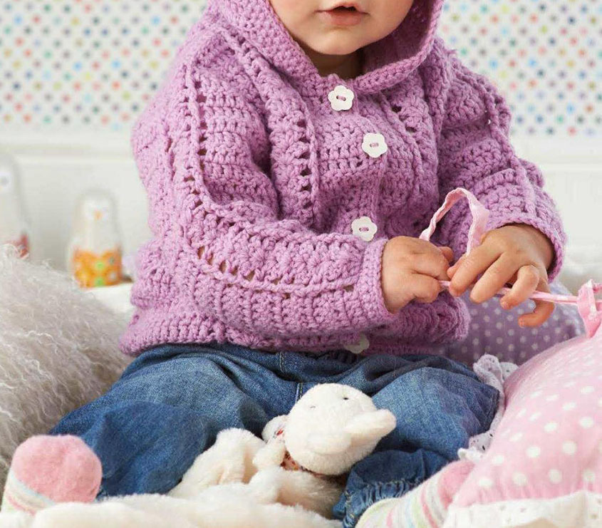 Baby Hooded Jacket Crochet Pattern
