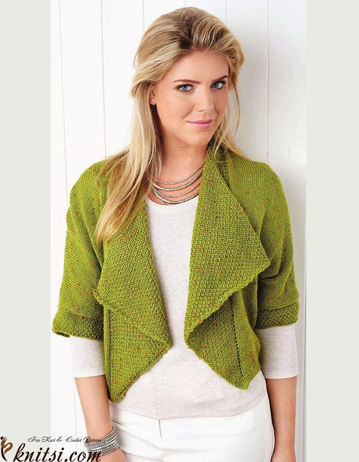 Cropped Cardigan Knitting Pattern