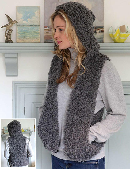 Women's gilet knitting pattern