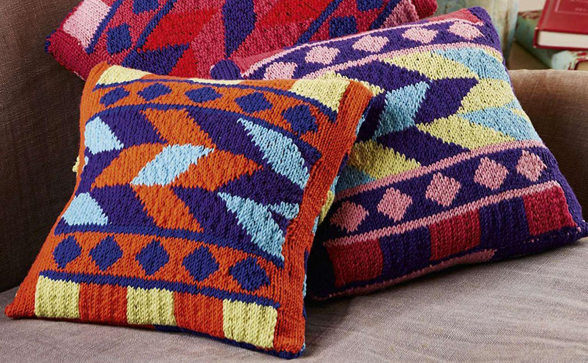 Cushion Covers Knitting Patterns