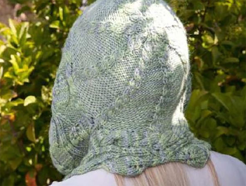 Hooded Scarf Knitting Pattern Free
