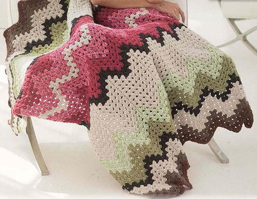 Ripple Afghan Crochet Pattern