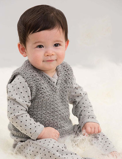 Crochet vest for boys or girls