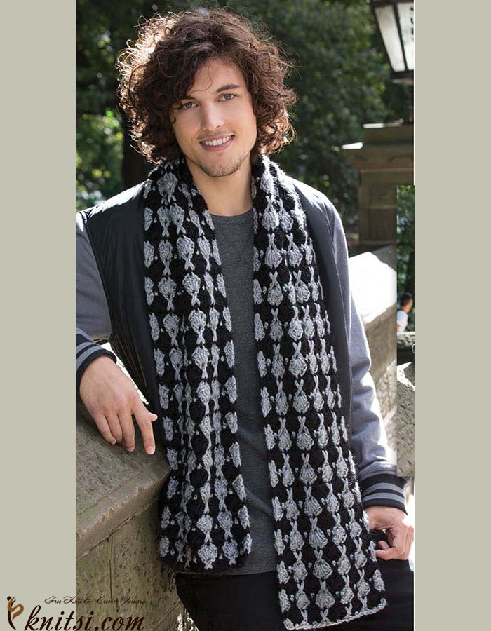Men\'s scarf crochet pattern