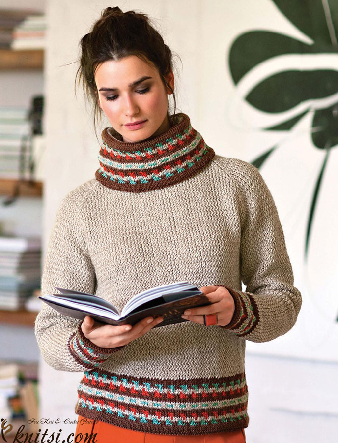 Jumper And Snood Knitting Pattern