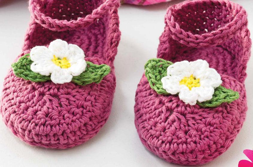 Crochet sandals for baby pattern