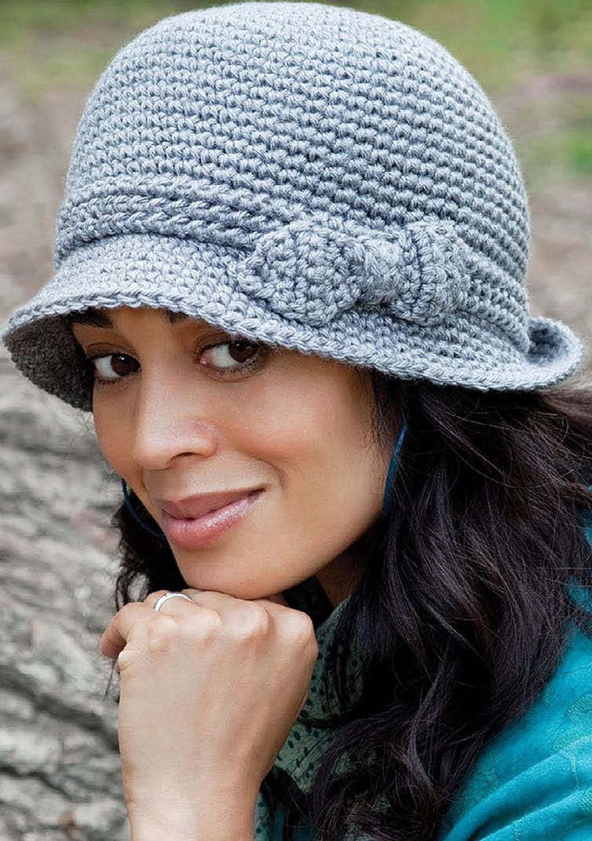 1ba84c017fa Stylish cloche hat crochet pattern