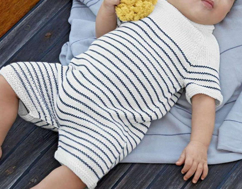 65117a21b Baby romper suit knitting pattern