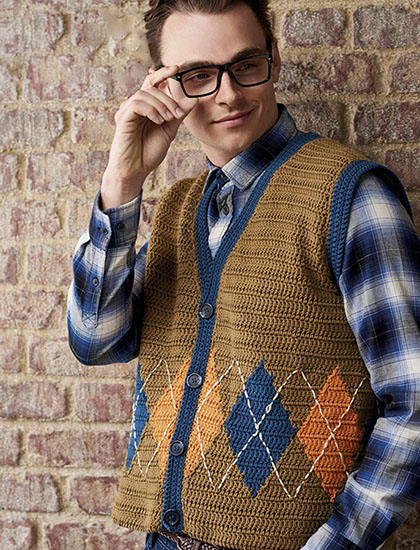 Free vests knitting and crochet patterns for men dt1010fo