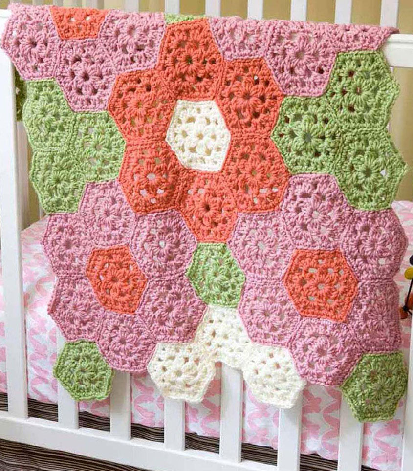 Coverlet crochet pattern