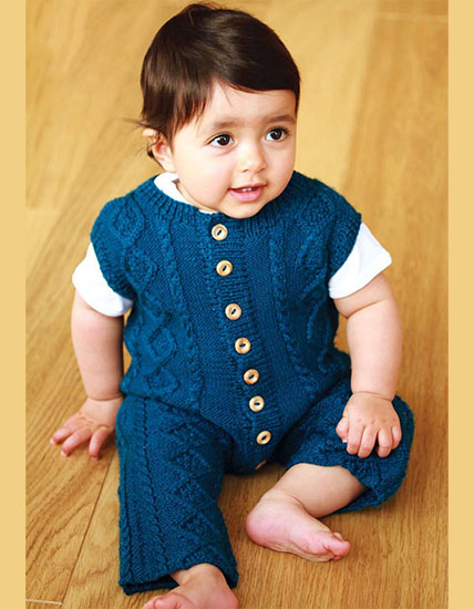 Knitted  dungarees for boys