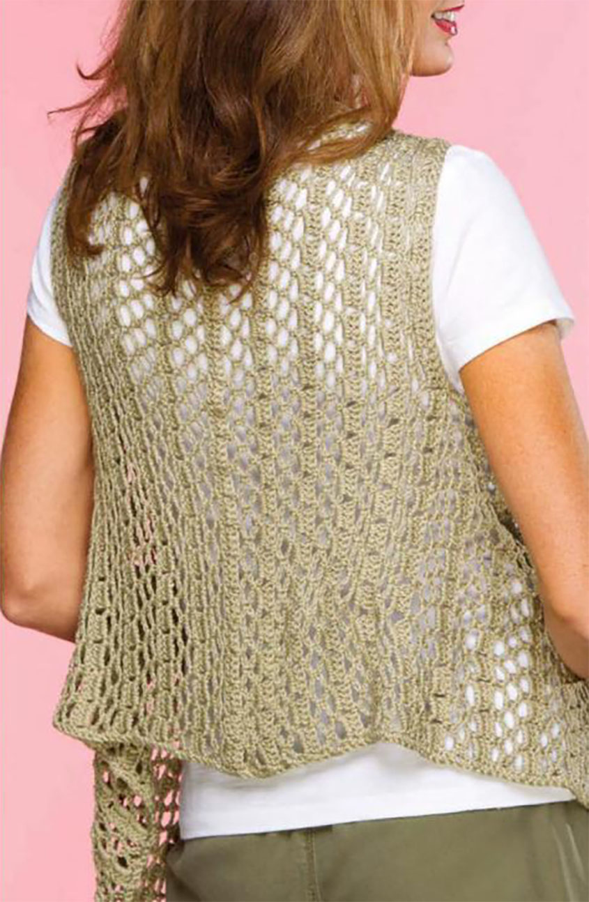 Draped Crochet Vest Pattern