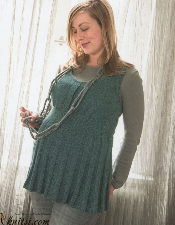 a9f7ec49c92885 Knitted tunic for pregnant women