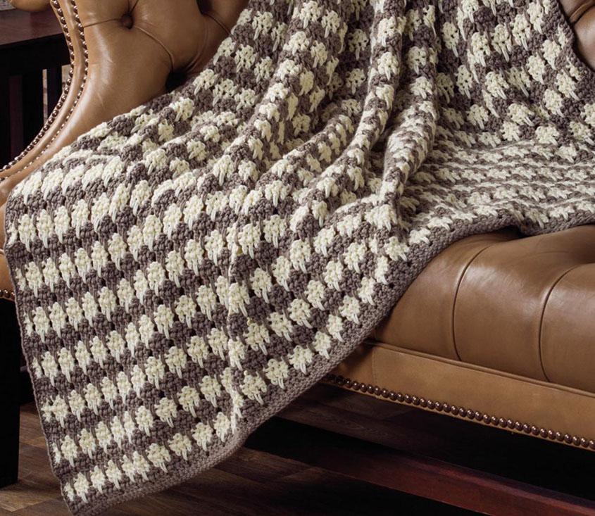 Crochet Spike Stitch Throw Pattern